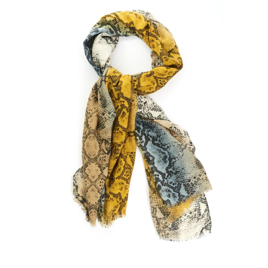 Pañuelo print serpiente amarillo