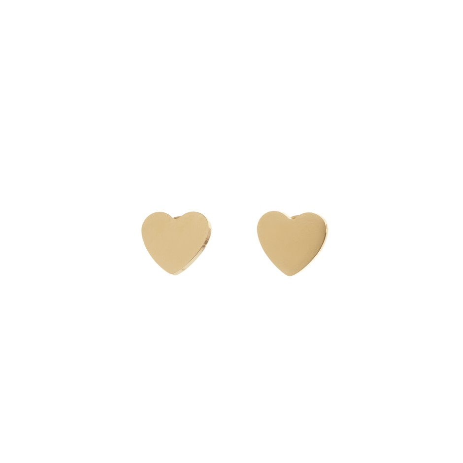 Pendiente nora corazón dorado