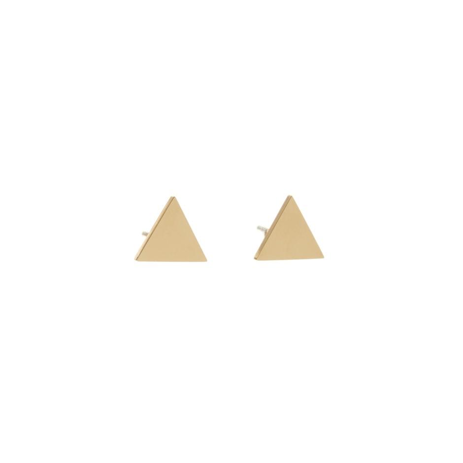 Pendiente nora triángulo dorado