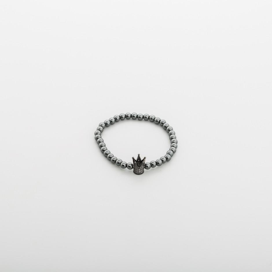 Pulsera corona negra