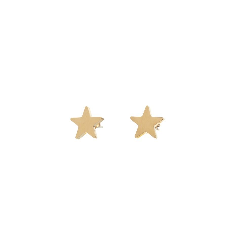 Pendiente mini estrella dorada