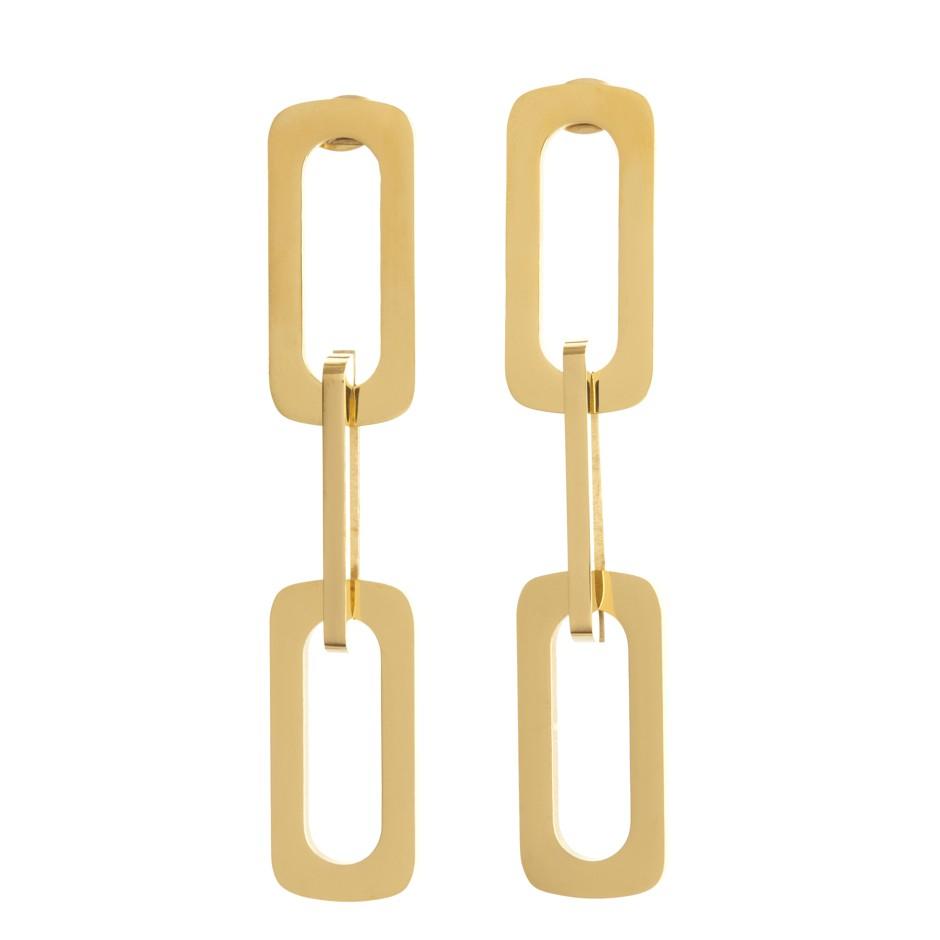 Pendiente cadena dorado