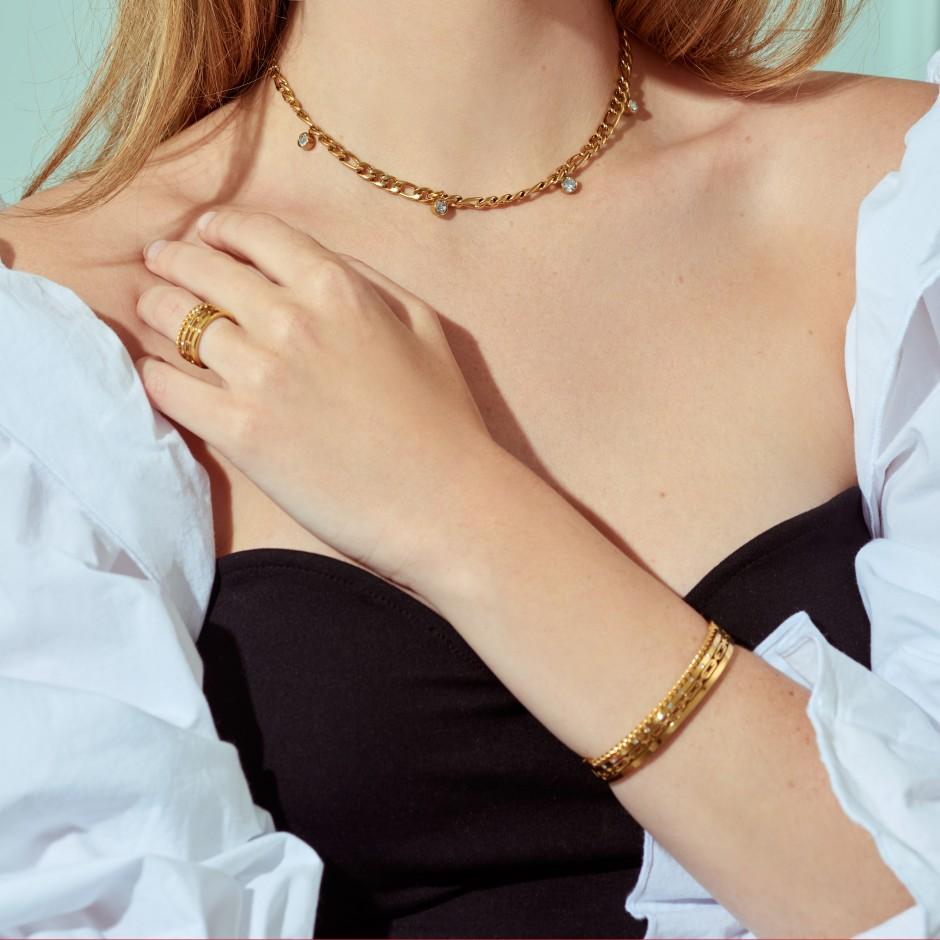 Brazalete cadena dorado