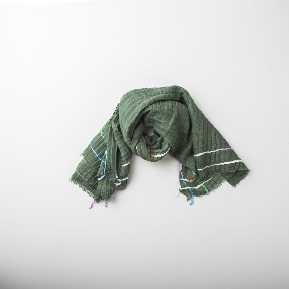 Bufanda verde cordón